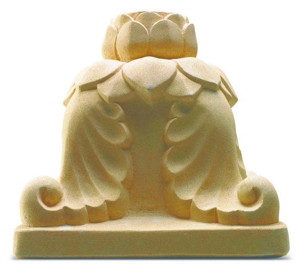 Pie de sombrilla de piedra en color crema