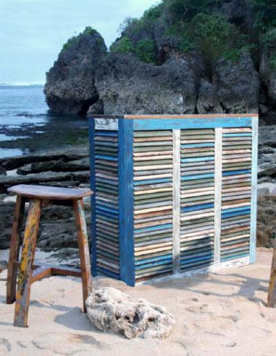 Aparador de madera de barco reciclada