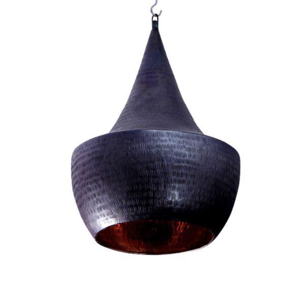 Lámpara azul de cobre.