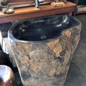 Pedestal de piedra-lavabo