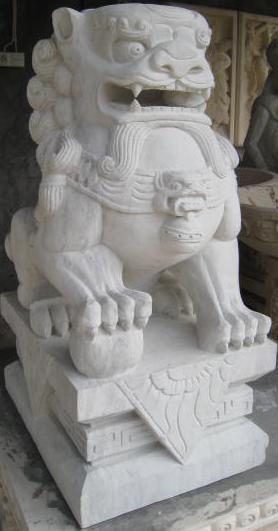 León de Fu en blanco.