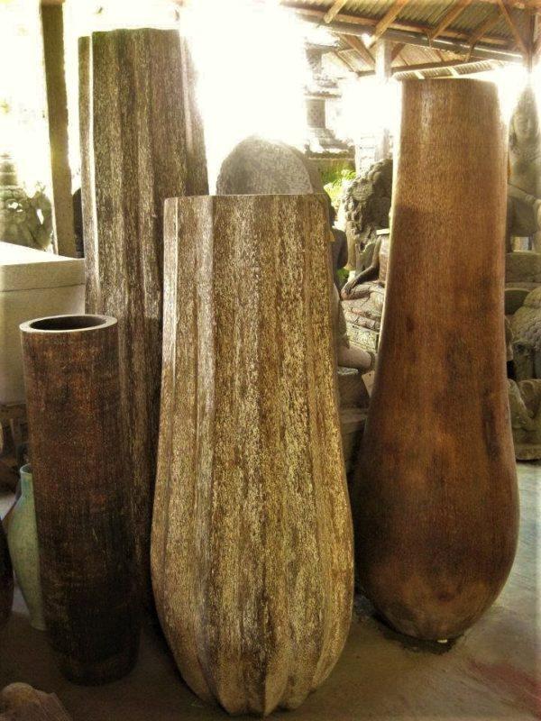 Vasijas de coco para decoración de velas y plantas