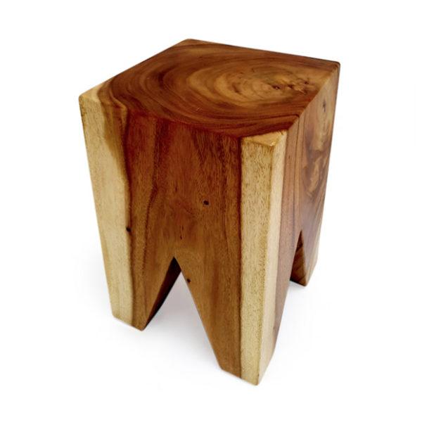 Taburete de madera de suar